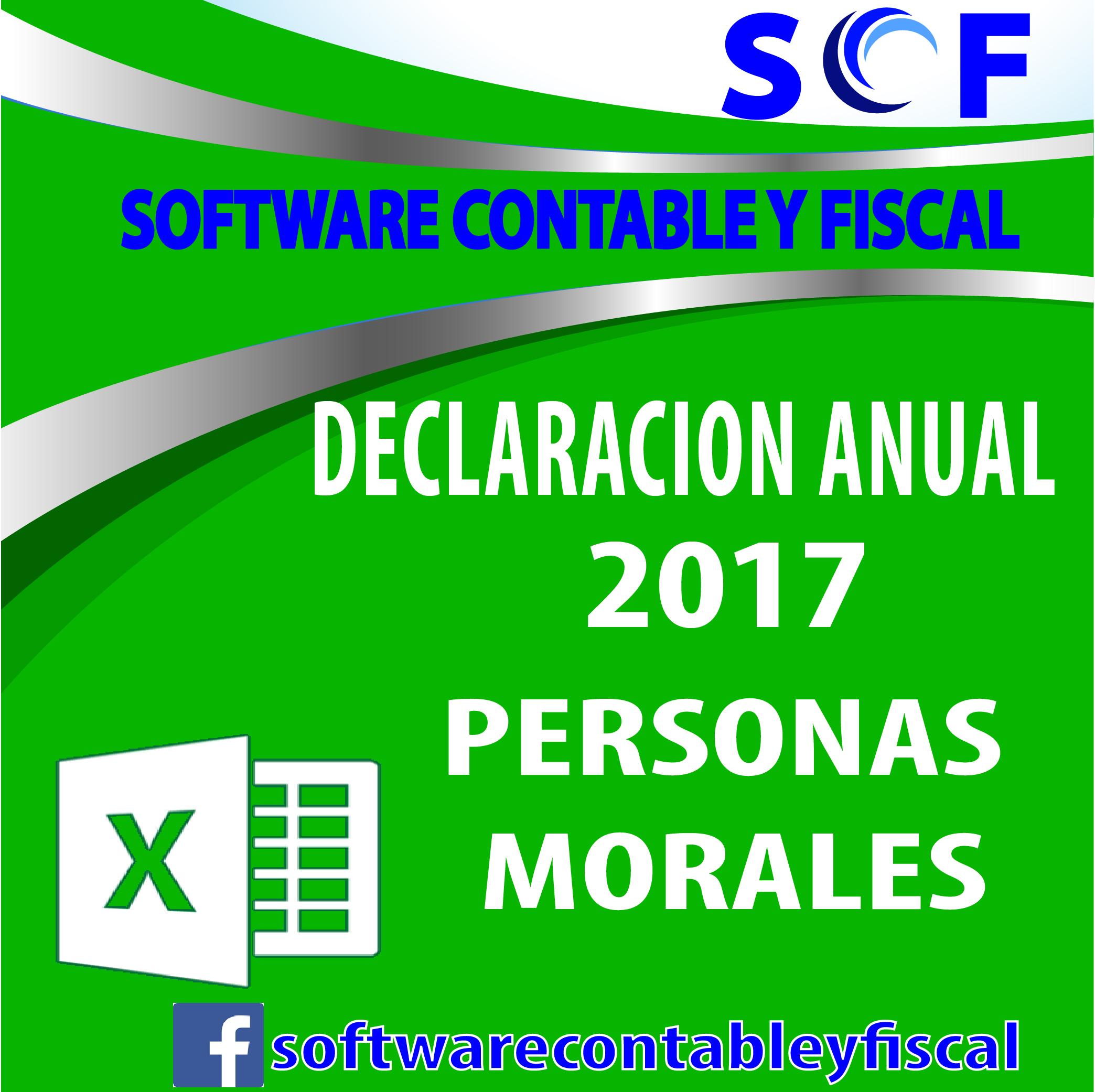 Declaración Anual 2017 Dem Personas Morales Cedulas En Excel ...